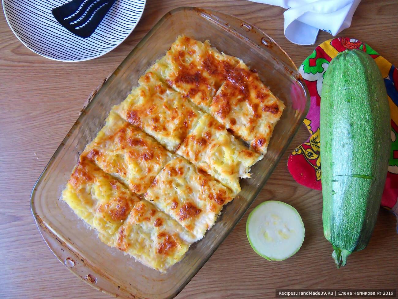 Кабачок под белым соусом с сыром – пошаговый кулинарный рецепт с фото