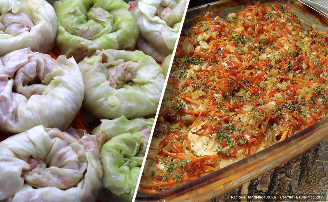 Голубцы «Улитки» – пошаговый кулинарный рецепт с фото
