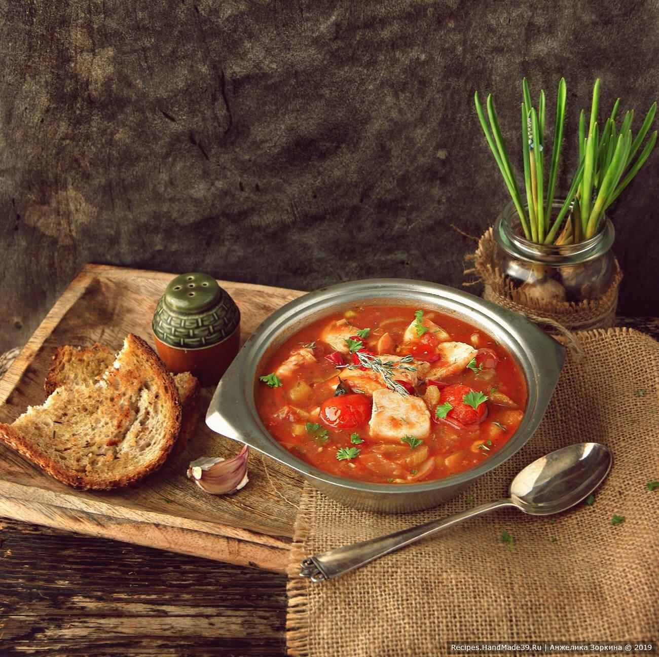 Томатный рыбный суп по-итальянски – пошаговый кулинарный рецепт с фото