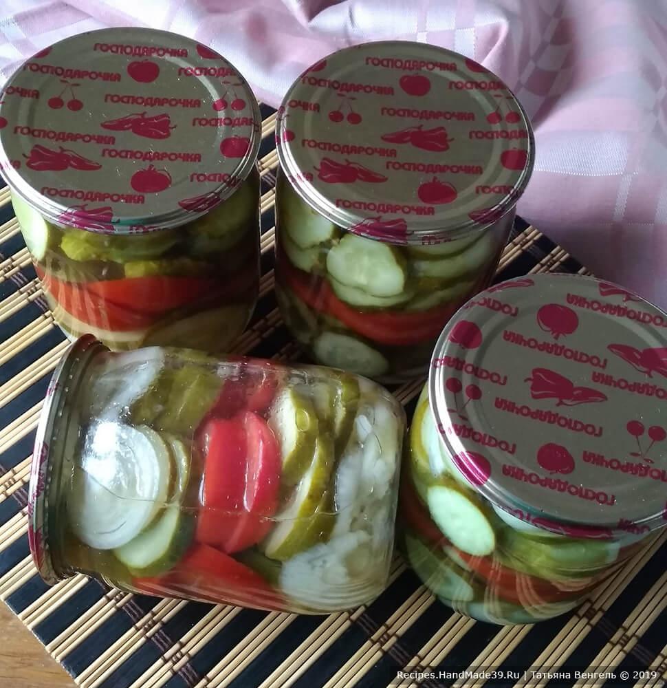Быстрый салат из огурцов с помидорами на зиму – пошаговый рецепт с фото
