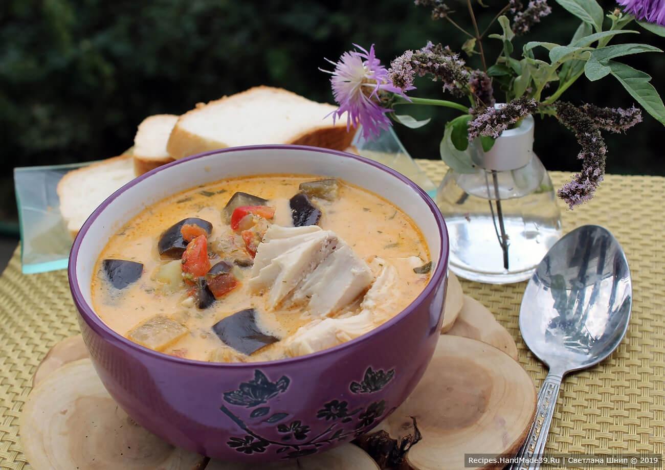 Суп из баклажанов – пошаговый кулинарный рецепт с фото
