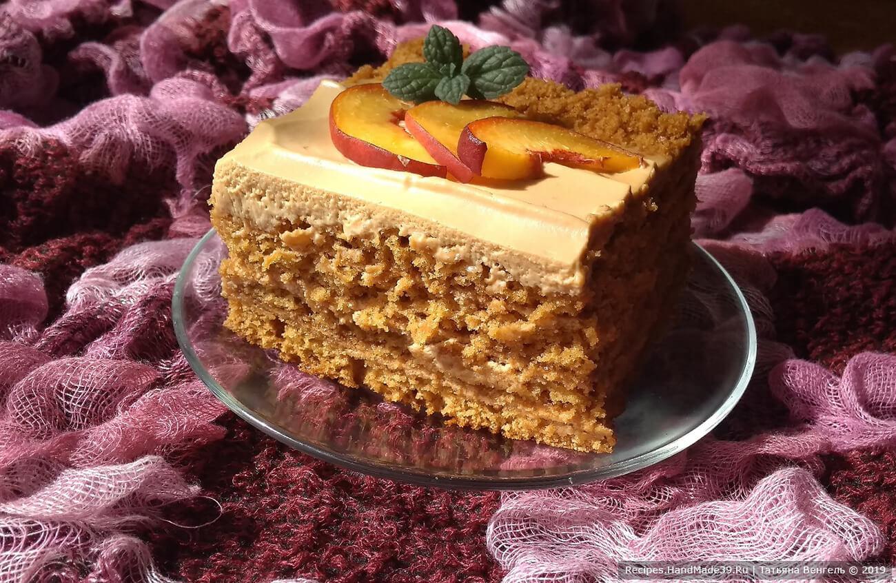 Медовик наливной без раскатки коржей – пошаговый кулинарный рецепт с фото