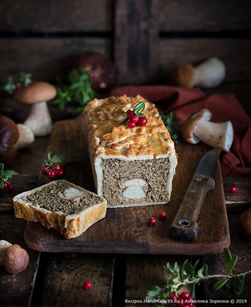 Паштет из печени и грибов в тесте – пошаговый кулинарный рецепт с фото