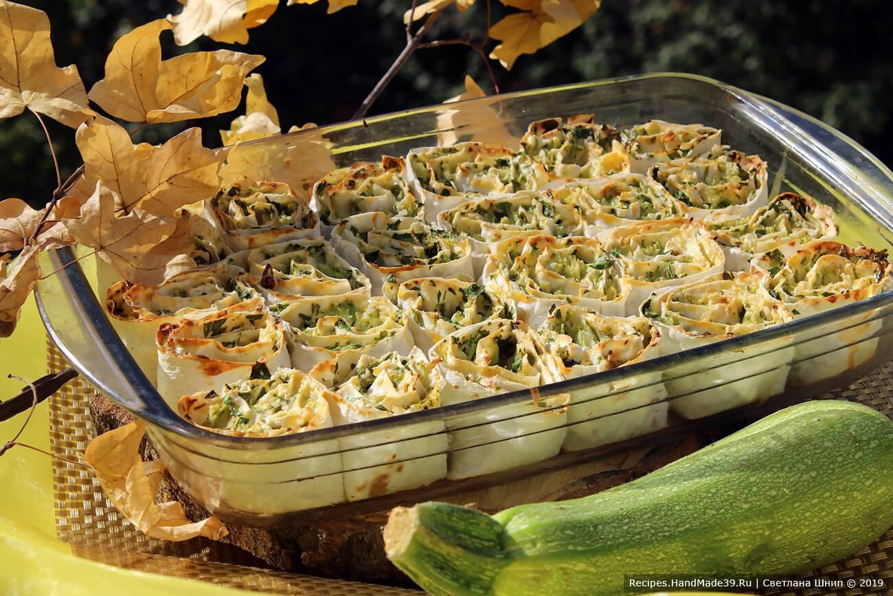 Рулет из лаваша с кабачком и сыром – пошаговый кулинарный рецепт с фото