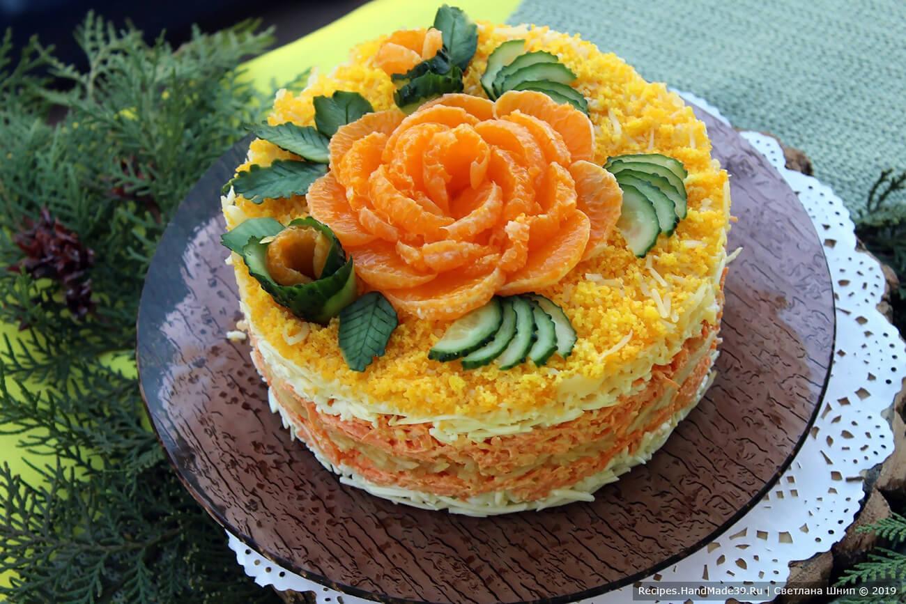 Сырный салат с морковью и яблоком – пошаговый кулинарный рецепт с фото