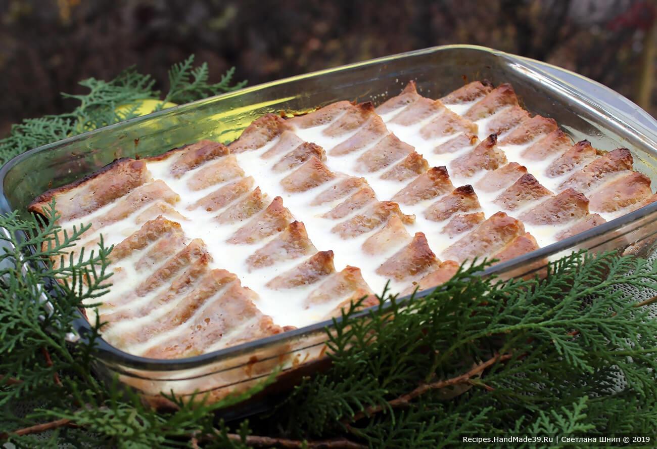 Запеканка из блинов с творогом – пошаговый кулинарный рецепт с фото