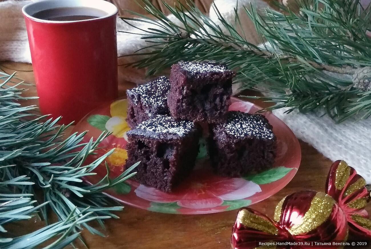 Постный шоколадный пирог – пошаговый кулинарный рецепт с фото