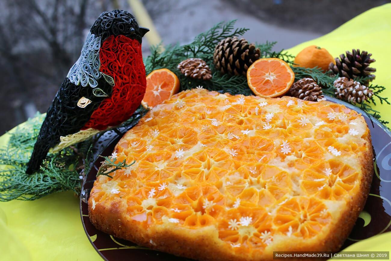 Пирог с мандаринами – пошаговый кулинарный рецепт с фото