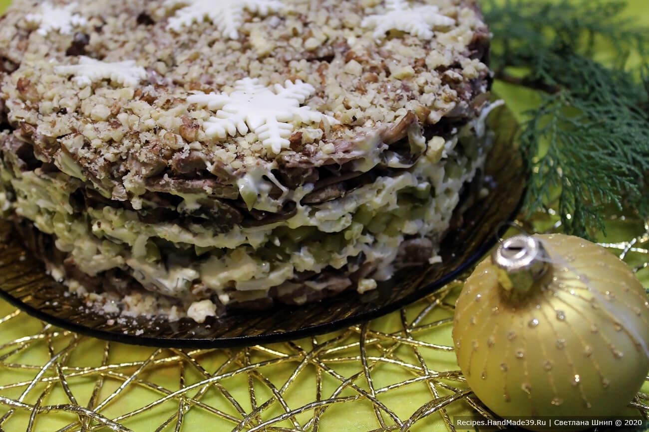 Салат «Орландо» с языком и грибами – пошаговый рецепт с фото