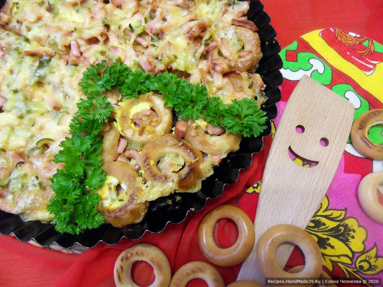 Пицца из сушек – пошаговый кулинарный рецепт с фото