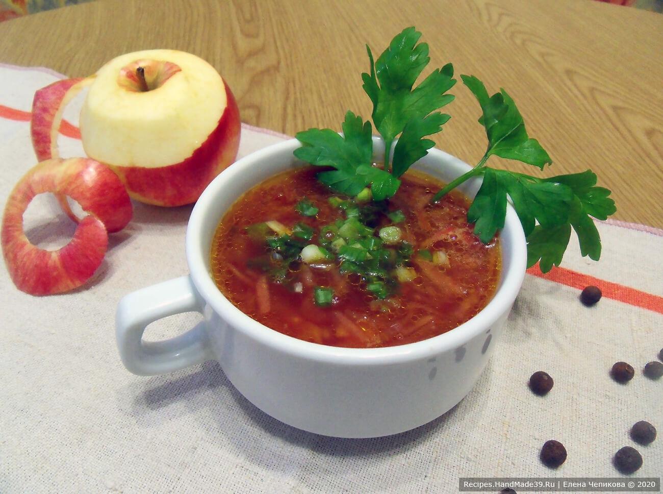 Борщ с яблоками – пошаговый кулинарный рецепт с фото