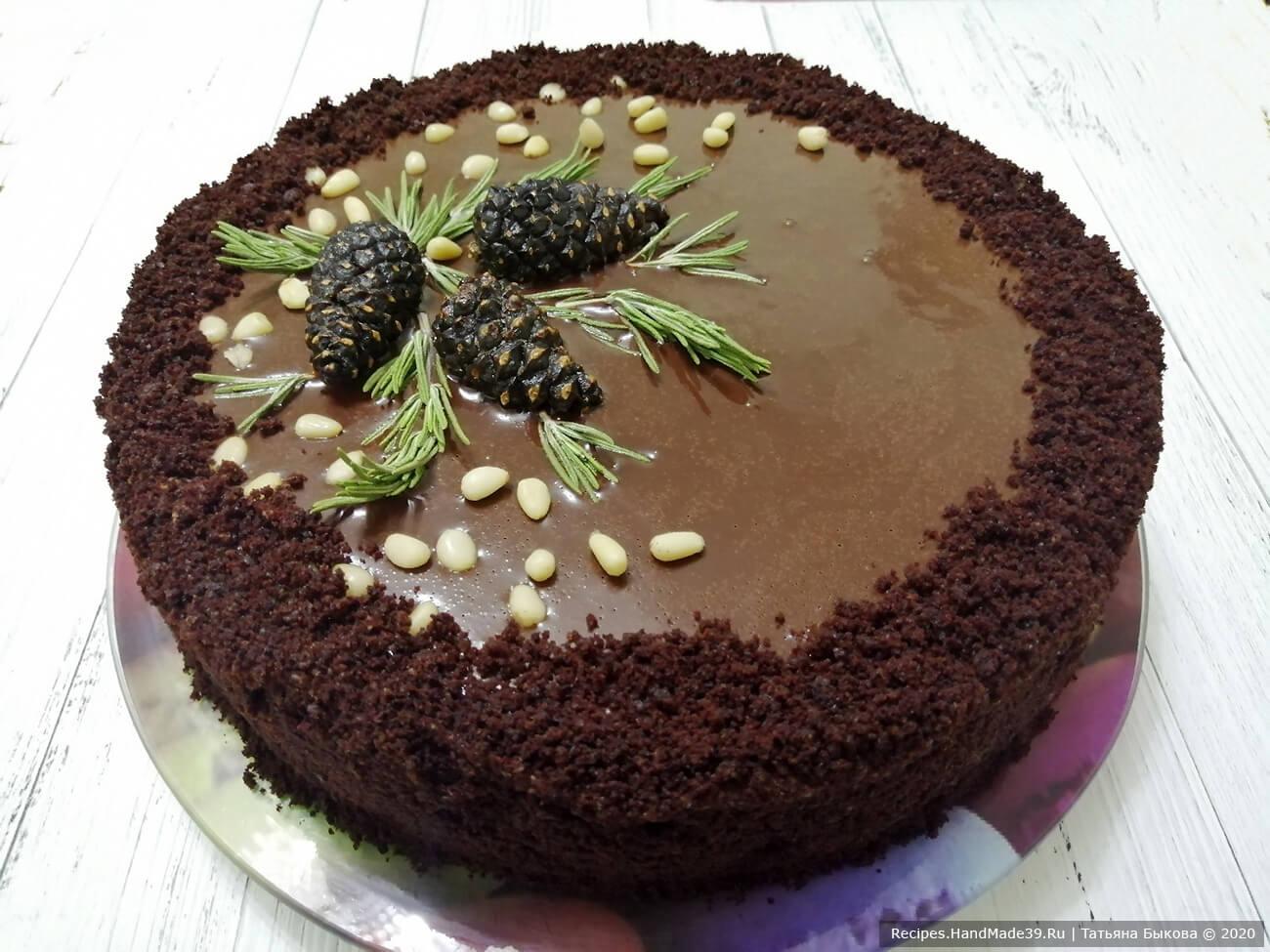 Рецепт как испечь бисквитный торт «Шоколадный бархат» пошагово с фото