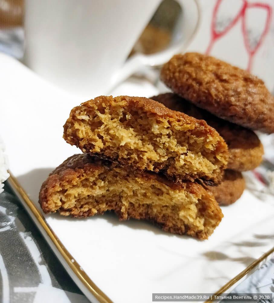 Печенье из овсяных хлопьев – пошаговый кулинарный рецепт с фото