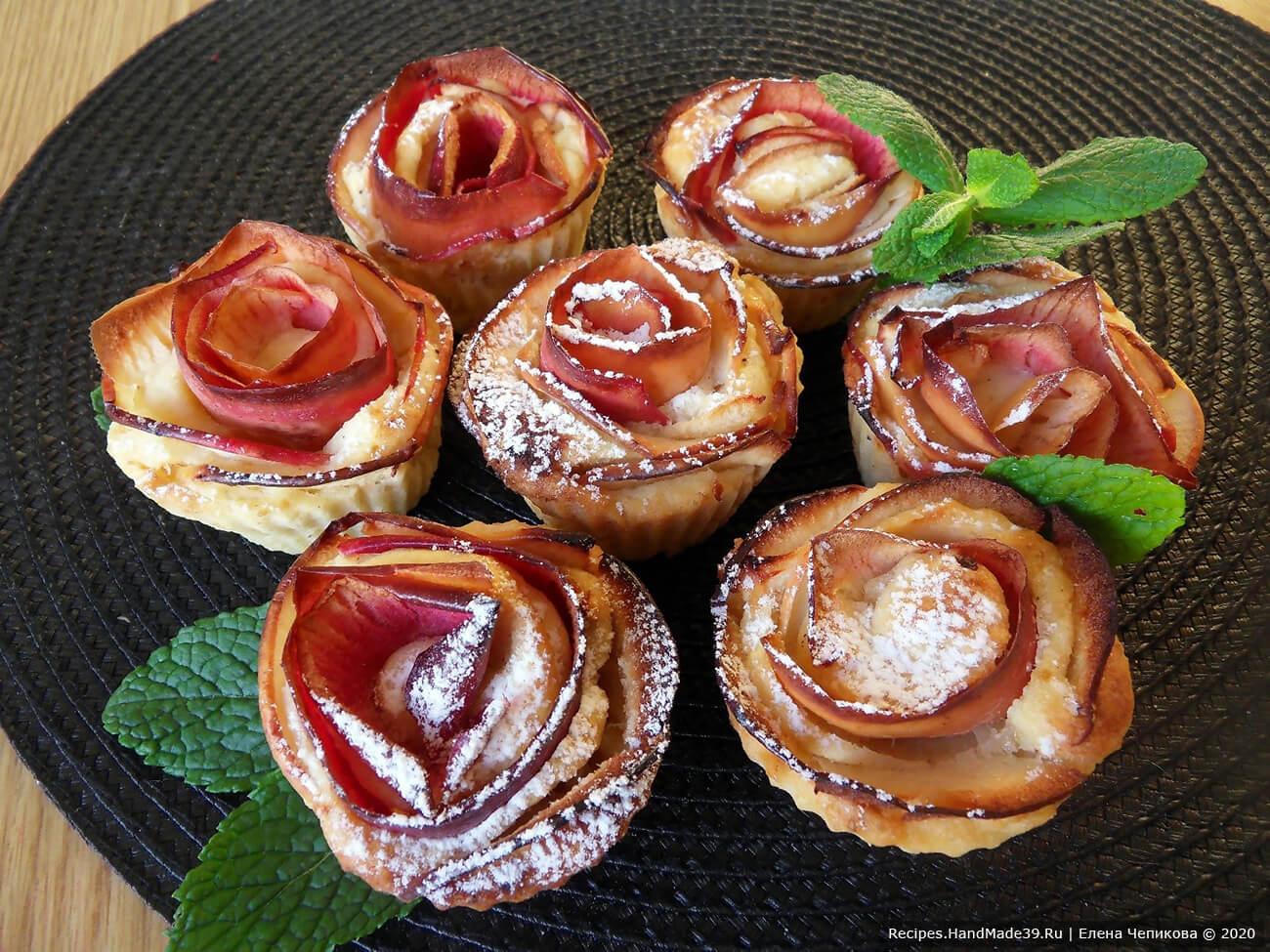 Кексы «Розы» – пошаговый кулинарный рецепт с фото