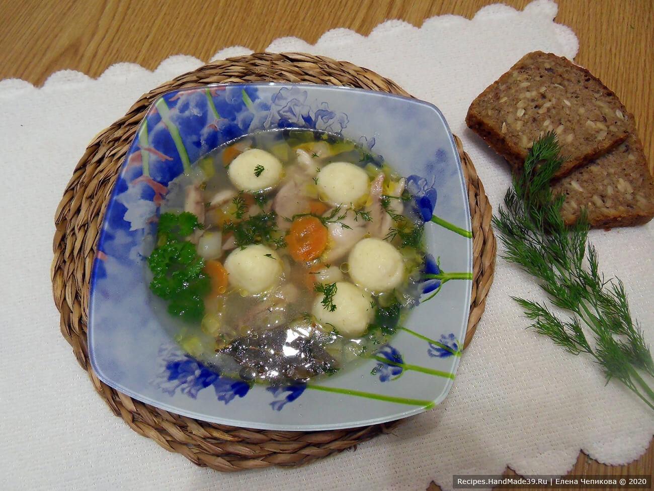 Куриный суп с манными клёцками и овощами – пошаговый рецепт с фото