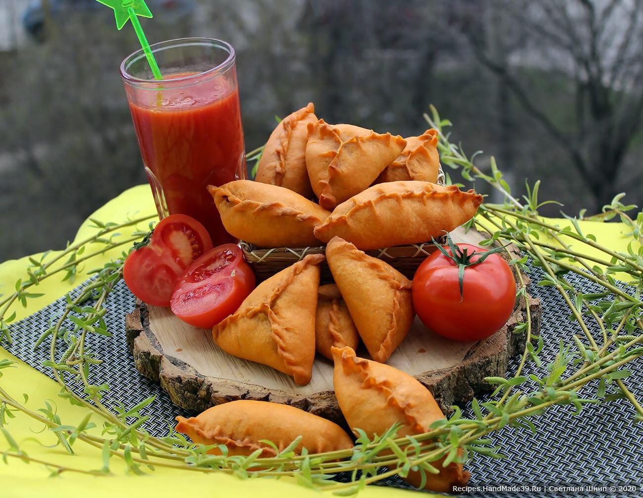 Пирожки из постного теста на томатном соке без дрожжей – пошаговый рецепт с фото