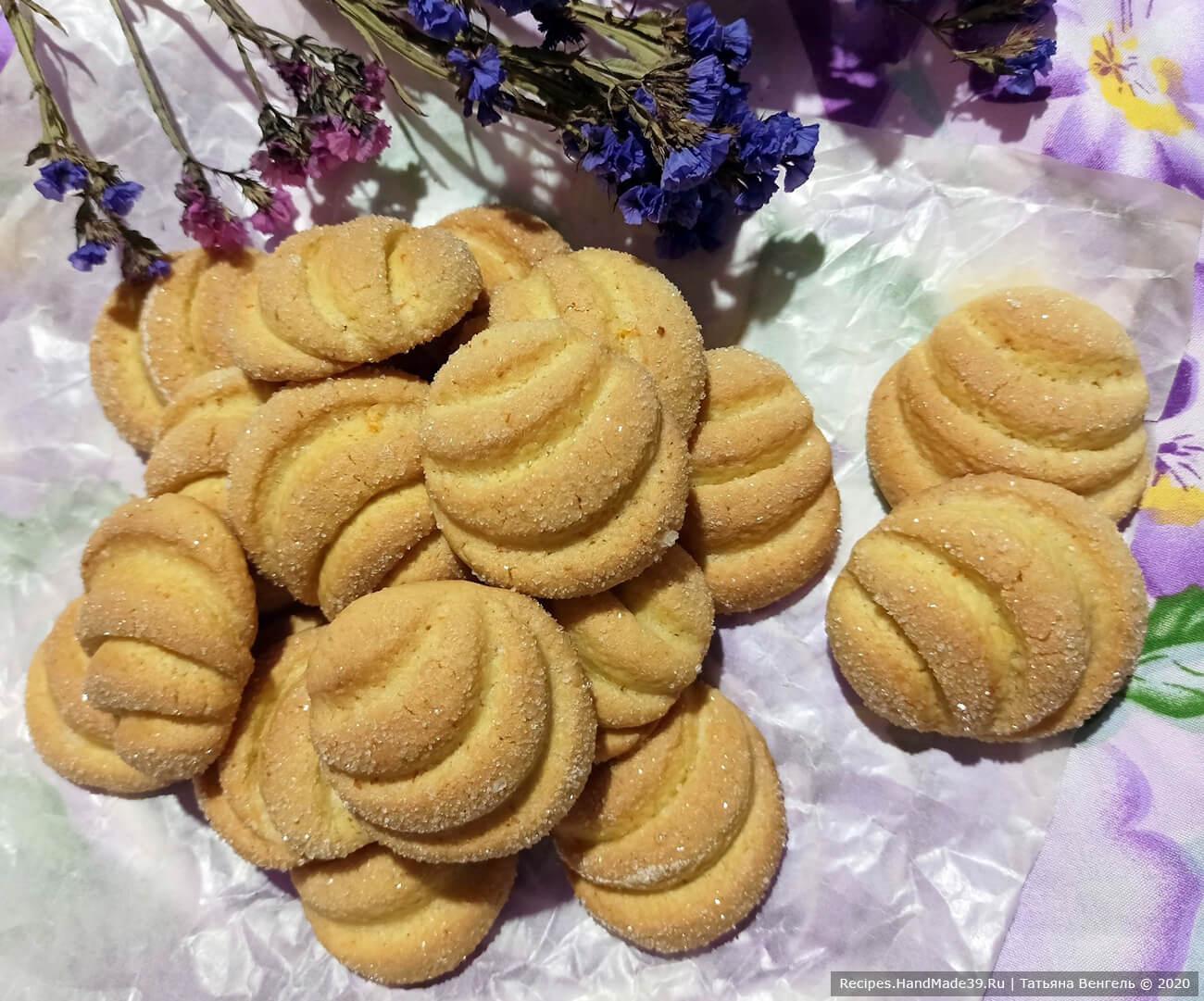 Быстрое мандариновое печенье «Минутка» – пошаговый рецепт с фото