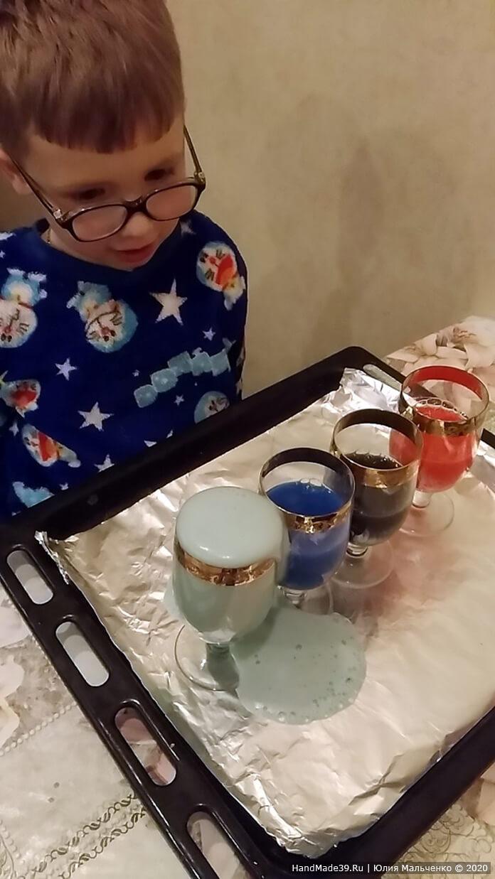 Химические опыты для детей. Вулкан из цветной пены. Шаг 3