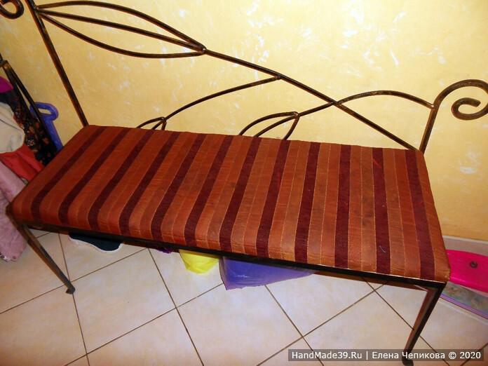 Как перетянуть старый диванчик, шаг 1