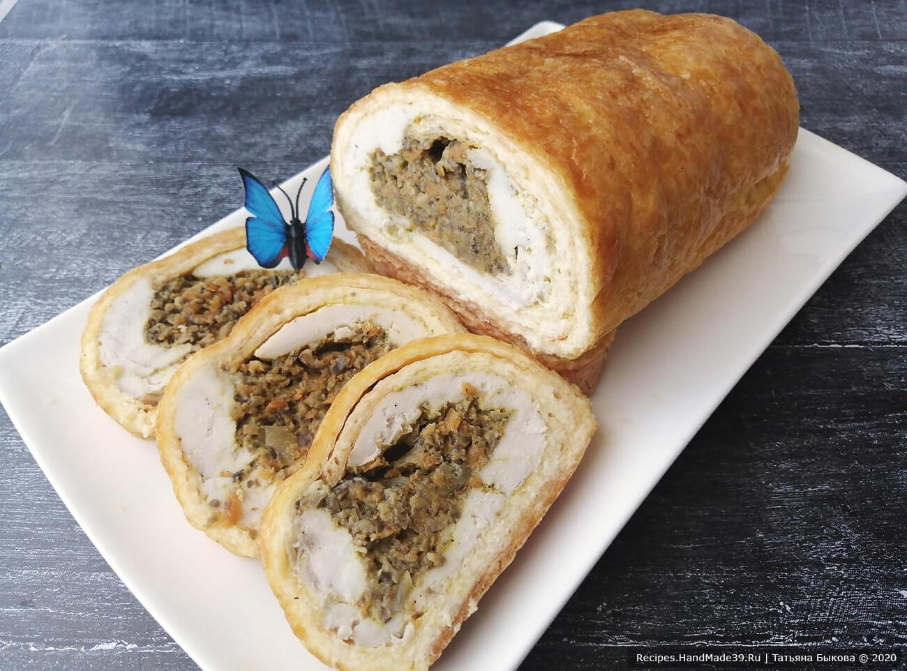 Сырный рулет с начинкой – пошаговый кулинарный рецепт с фото