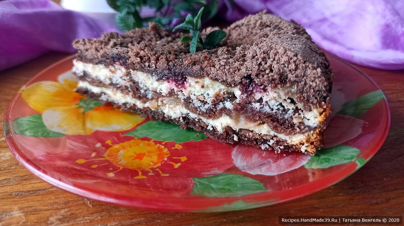Шоколадная королевская ватрушка с творогом – пошаговый рецепт с фото