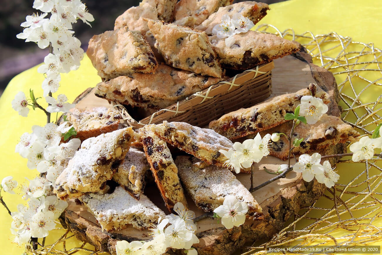 Мягкое печенье «Мазурка» с изюмом и грецкими орехами – пошаговый рецепт с фото