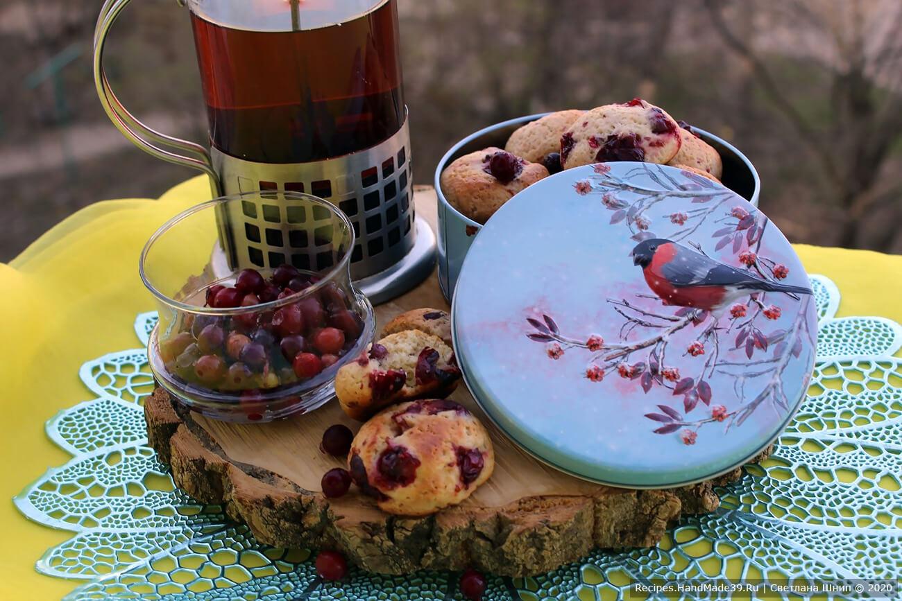 Быстрое печенье с брусникой – пошаговый рецепт с фото
