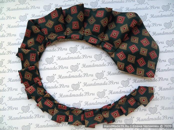 Как сшить украшение на шею из мужского галстука, этап 3