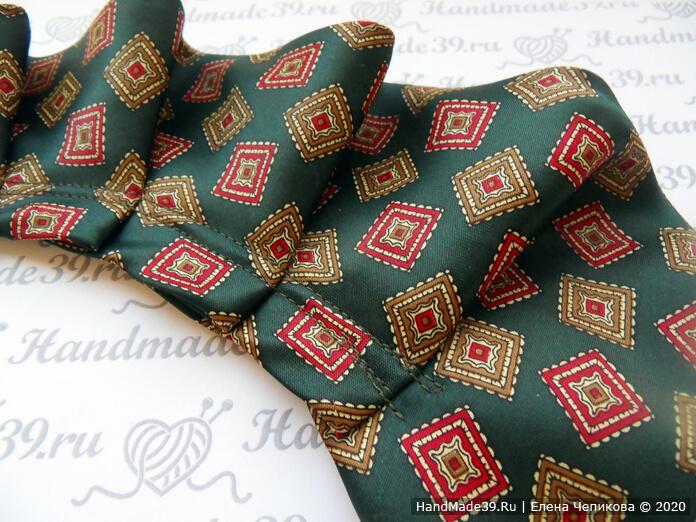 Как сшить украшение на шею из мужского галстука, этап 4