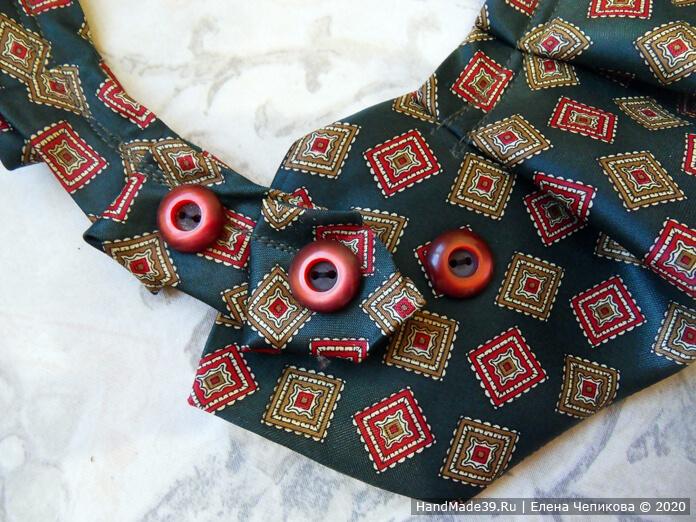 Как сшить украшение на шею из мужского галстука, этап 5