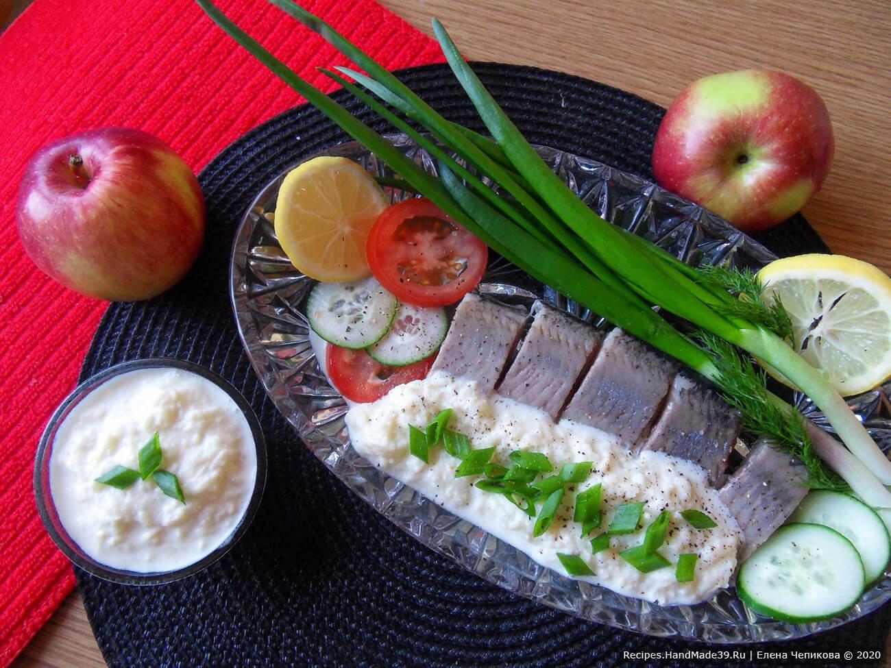 Сметанный соус с яблоком для сельди – пошаговый рецепт с фото
