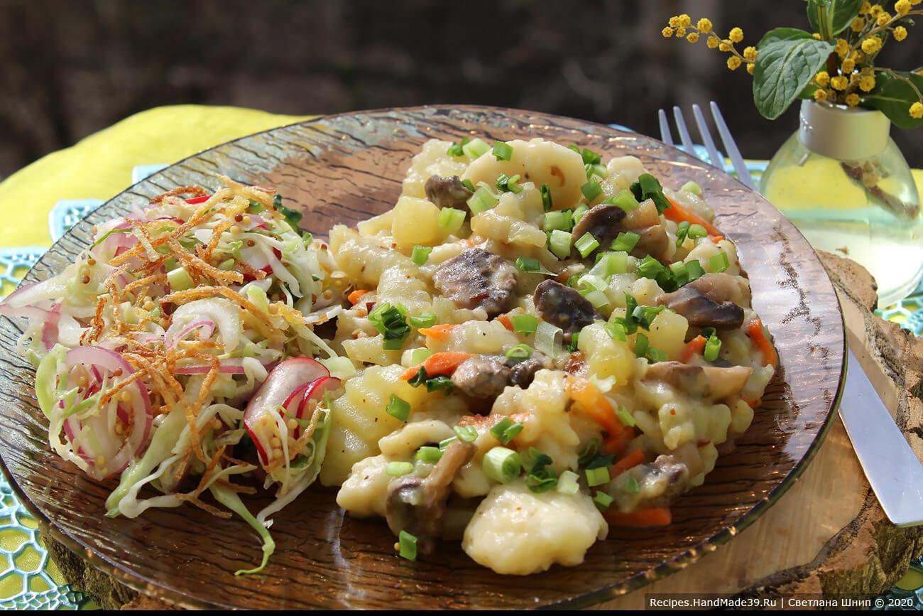 Галушки с картофелем и грибами – пошаговый рецепт с фото