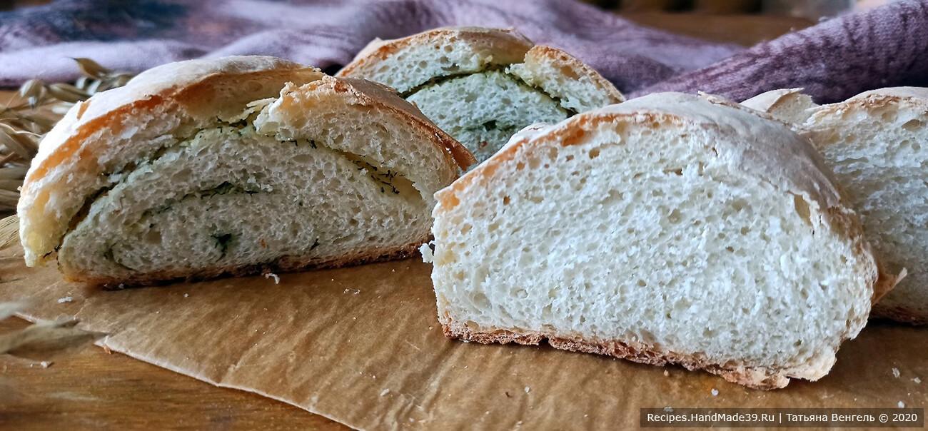 Дрожжевой хлеб на картофельном отваре с чесноком и зеленью – пошаговый рецепт с фото