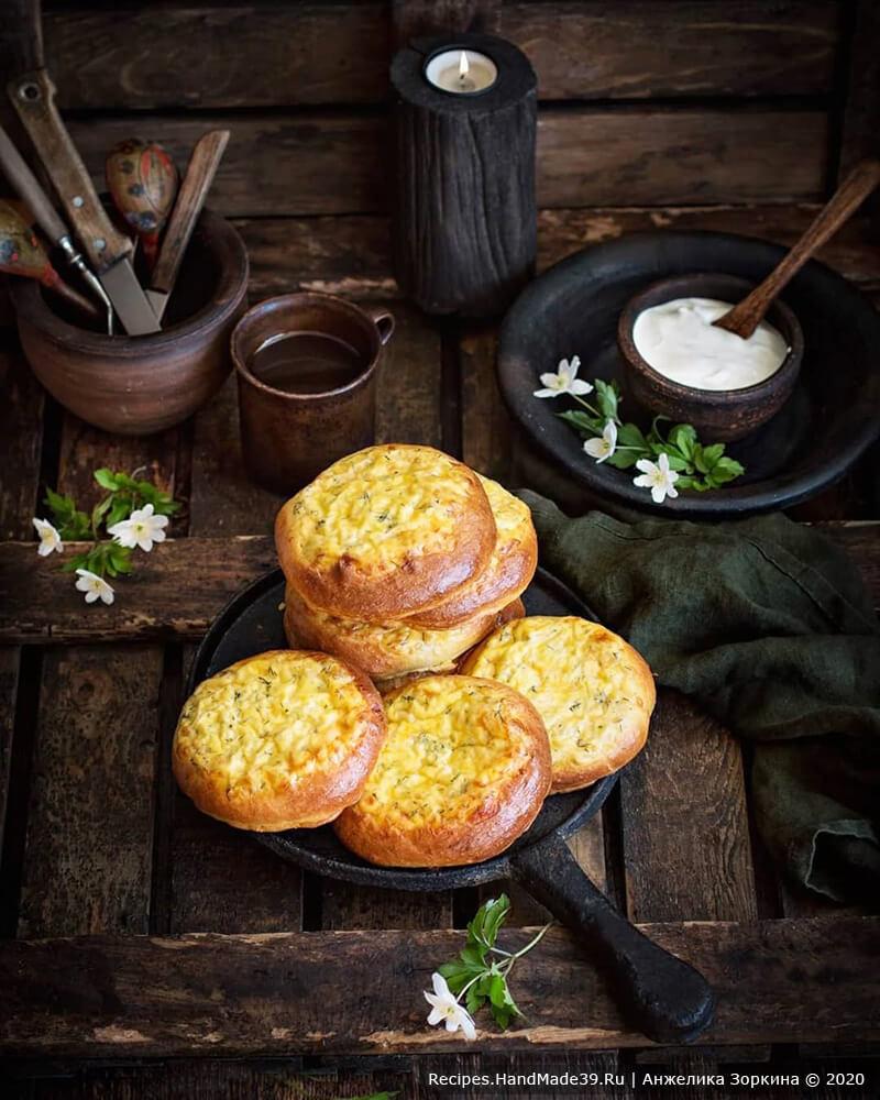 Шаньги с сыром, творогом и зеленью «Как у бабушки» – пошаговый рецепт с фото