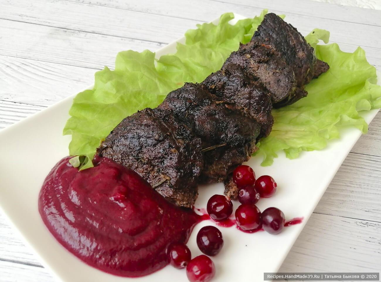 Оленина по-фински с клюквенным соусом – пошаговый рецепт с фото