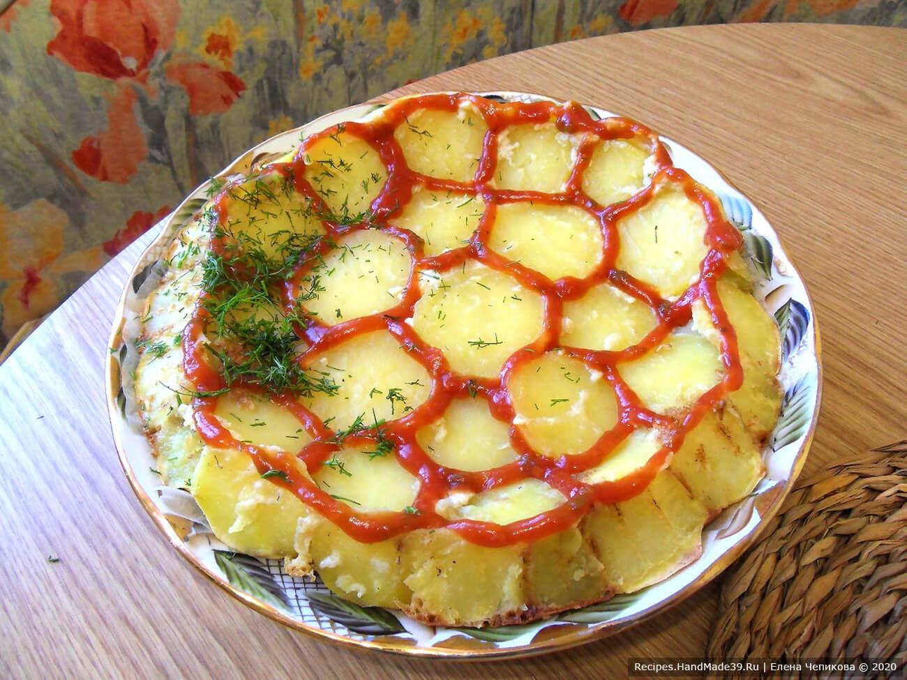 Картофельный пирог «Черепаха» с рыбными консервами – пошаговый рецепт с фото