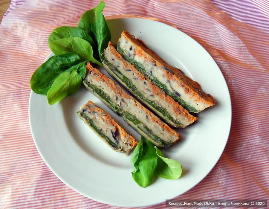 Трёхцветная овощная запеканка со шпинатом, цветной капустой, морковью и грибами – пошаговый рецепт с фото