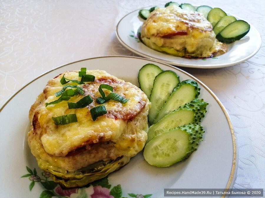 Капуста, запечённая с фаршем – пошаговый кулинарный рецепт с фото