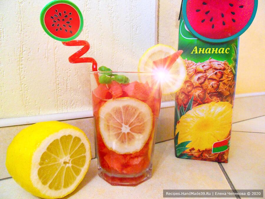 Арбузный лимонад – пошаговый кулинарный рецепт с фото