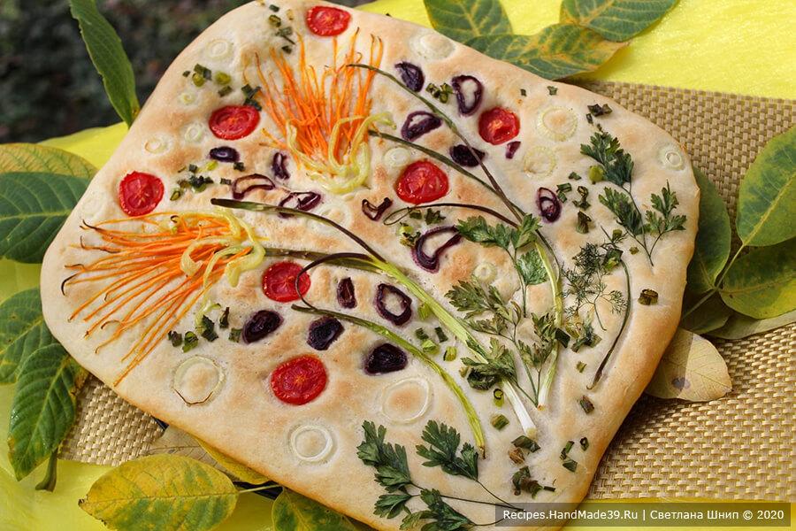 Фокачча с овощами в стиле фокачча-арт – пошаговый рецепт с фото