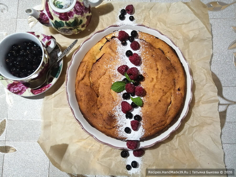 Кезекухен – немецкий творожный пирог – пошаговый рецепт с фото