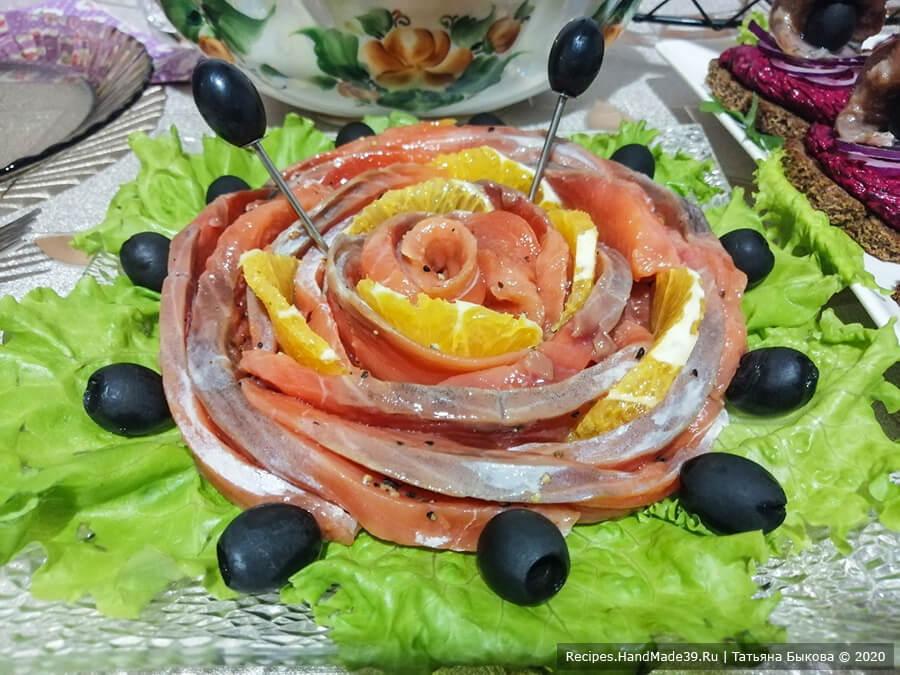 Слабосолёный лосось с апельсином – пошаговый кулинарный рецепт с фото