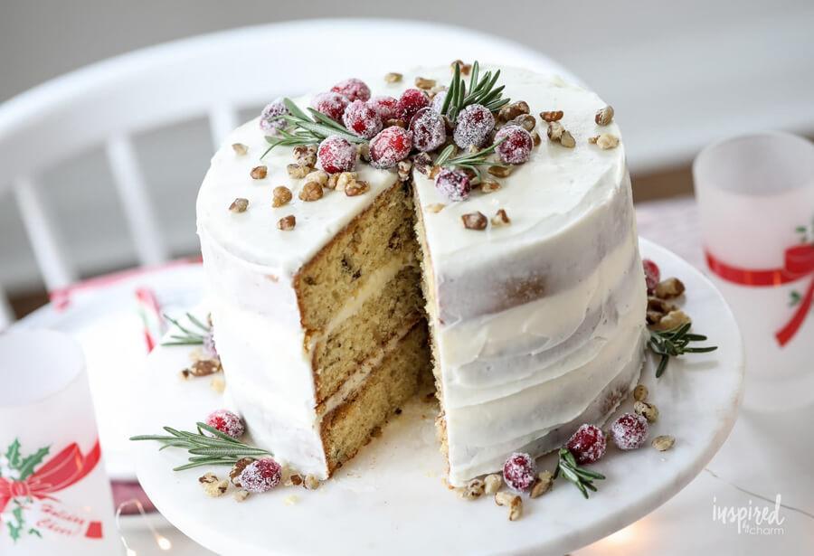 Рождественский торт с грецкими орехами – пошаговый кулинарный рецепт с фото