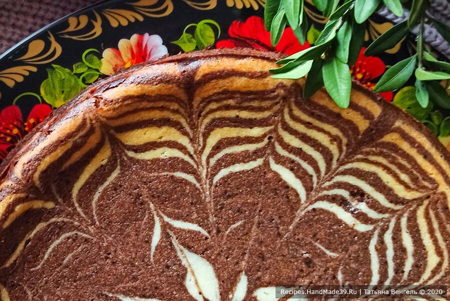 Творожная запеканка «Зебра» без манки – пошаговый рецепт с фото
