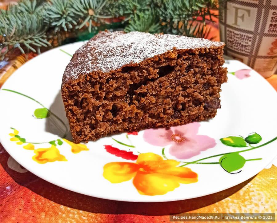 Шоколадно-творожный манник с изюмом – пошаговый рецепт с фото