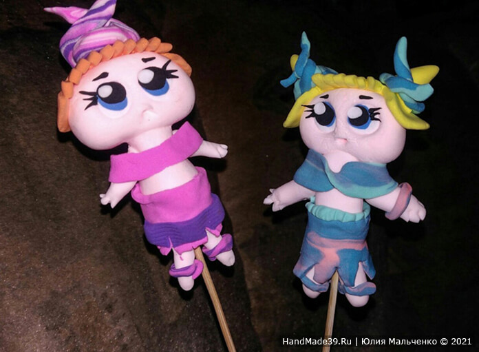Куклы ЛОЛ из пластилина – фото шаг 10