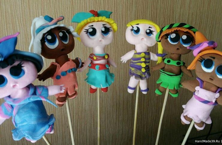 Как сделать куколки L.O.L. из воздушного пластилина
