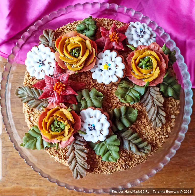 Бисквитный торт «Шоколад» – пошаговый кулинарный рецепт с фото