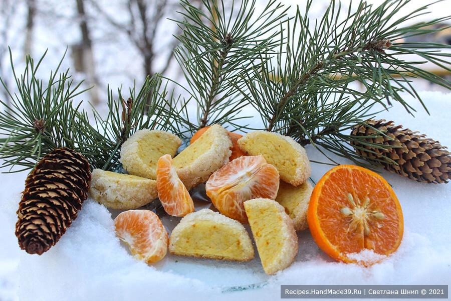 Печенье «Мандариновые дольки» – пошаговый кулинарный рецепт с фото