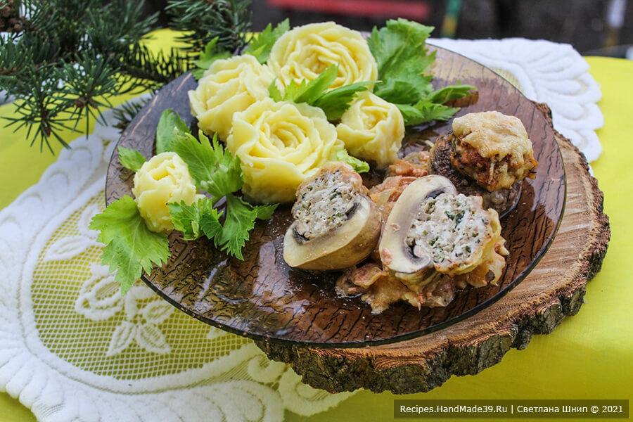 Фаршированные шампиньоны – пошаговый кулинарный рецепт с фото